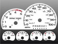 1995-2000 Chevrolet Truck DIESEL Dash Cluster White Face Gauges 95-98
