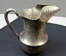 "Vintage Everlast Metal Hand Forged Hammered Aluminum Pitcher 9 1/4"" Tall #625"