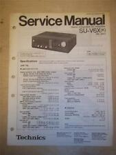 Technics Service Manual ~ SU-V6X Verstärker/AMP ~ Original ~ Reparatur