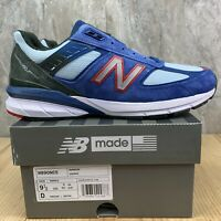 New Balance M990NC5 990V5 Size 9.5 Mens Red Blue Crab Made in the USA