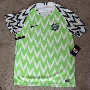 2018 Nike Nigeria Mens Home Soccer Jersey Kit 893886-100 WORLD CUP L Large Naija