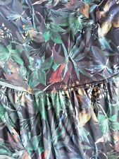 Noni B Liz Jordan Vanessa green teal printed DRESS retail $149.95 Large 16 NEW