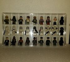 Lego Minifigures Collector 27 Compartment Storage Display Case w/Lid-Lego Plates