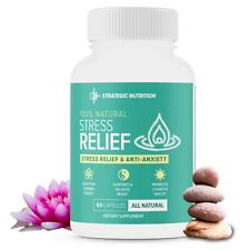 Stress Relief Supplement –Stress Support, Anti Anxiety Supplement – 60 Capsules