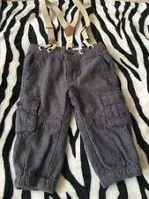 Baby Boys  Trousers With Adjustable Braces 12mths From Vertbaudet