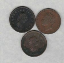 More details for three 1806/1807 & 1826 copper half pennies in a used fine condition