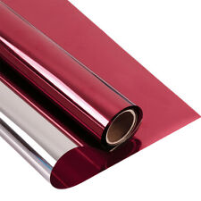 Red&Silver Reflective Window Tint Film One Way mirrored privacy solar tint