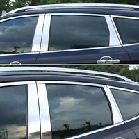 XUKEY Chrome Window Pillar Post Posts Cover For Ford Escape Kuga Trim Decoration