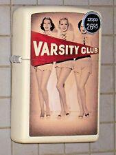 New USA ZIPPO Lighter Varsity Club Cheerleaders 3 lovely ladies legs cream matte