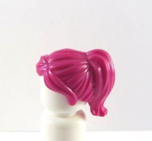Lego 1 Hair Wig For Female Girl Minifigure Short Magenta Pink Ponytail