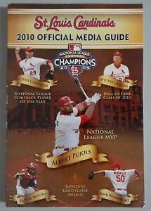 2010 St Louis Cardinals MLB Baseball Media Guide