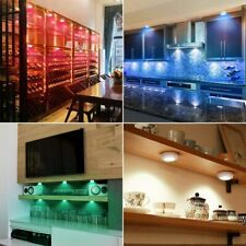 LED RGB Under Cabinet Lights Dimmable Lighting Remote Shelf Closet Cupboard SN