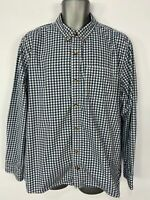 MENS FAT FACE BLUE MIX CHECKED BUTTON LONG SLEEVE SMART CASUAL SLIM FIT SHIRT XL