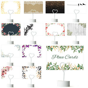 Flat Place Cards, Table Name Cards, Plain for Wedding, Parties from £1.29