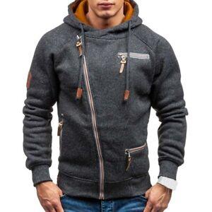 Men's Athletic Warm Soft Fleece Zip Up Sweater Jacket Hoodie Pullover Sweatshirt