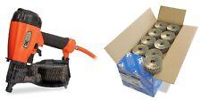 Tacwise FCN57V Air Coil Nail Gun + 45mm Galv Nails
