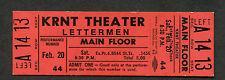 Original 1970 Lettermen Unused Concert Ticket Des Moines Ia Traces Memories