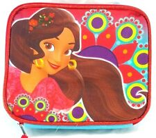 """Disney Elena of Avalor 9.5"""" Girls Canvas Blue & Red Insulated Lunch Bag"""