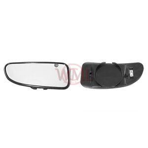 FIAT DUCATO 1998->2005 BLIND SPOT MIRROR GLASS SILVER, HEATED & BASE, LEFT SIDE