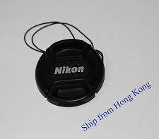 77mm Front lens cap Center-pinch leash for Nikon