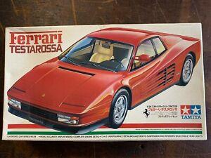 Vintage Tamiya Ferrari Testarossa 1.24 Scale Model Made in Japan No 24059 NOS