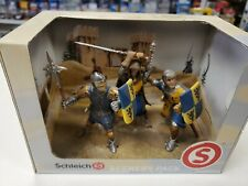 Schleich KNIGHTS w/ Weapons SCENERY PACK #40996 Griffin Yellow & Blue w/ Booklet