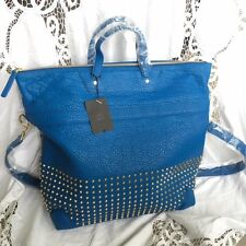 MCM Studded Leather Blue 14A Herbert Tote Bag  Authenticity Card RRP £1380.00