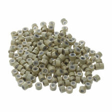 200 PCS 5mm Blonde Silicone Lined Micro Rings For Hair Extensions H7A8 B7K6