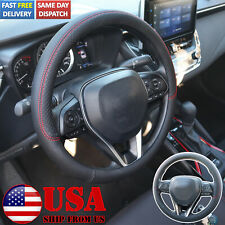 38cm15 Universal Pu Leather Car Steering Wheel Cover Rubber Inner Black Fits Mitsubishi Diamante
