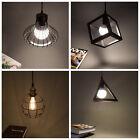 Vintage Industrial Loft Black Iron Bar Ceiling Pendant Light Kitchen Lamp Shade
