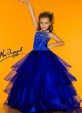 Sugar by Mac Duggal Girls Royal Blue Pageant Dress gown sz 12