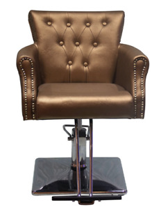 shengyu Classic Hydraulic Barber Chair Styling Salon Beauty Gold Faux Leather