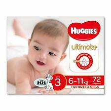 Huggies Ultimate Nappies, Unisex, Size 3 (6-11kg),72 Count