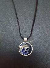 """Planet earth pendentif sur un 18"""" noir cord collier idéal anniversaire cadeau N36"""