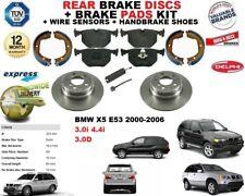 POUR BMW X5 E53 Arrière Disques De Frein Set + Disc Pads Kit + Fil Capteur + Main Chaussures