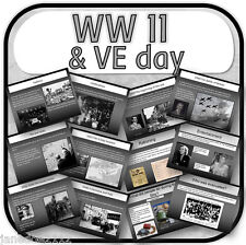 KS2 History topic VE day WW II / World War 2 Primary IWB Teaching Resources CD