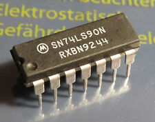 10x SN74LS90N decade counter, Motorola