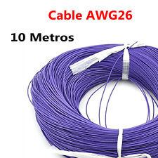 10 Metros Cable Morado PVC Flexible 26AWG Nucleo Alambre Cobre