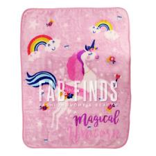 Unicorn Blanket Magical Kids Unicorn Faux Mink Throw Bedspread 110x140cm