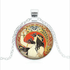 Gypsy Fortune Teller Tibet silver Glass dome Necklace chain Pendant Wholesale