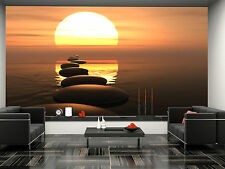 Stone Road-Sunset Wall Mural Photo Wallpaper GIANT DECOR Paper Poster Free Paste