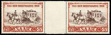 Saar 1950 15fr+5fr Stamp Day Mnh Gutter Pair #B76 Michel #291 CvÛ250