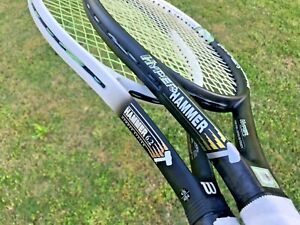 2 Wilson hyper Hammer 5.3- 6.2 over-size Tour Tennis Racket Racquet lot 110 Head