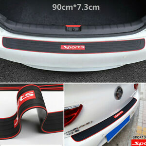 "35.4"" Sports Car Rear Trunk Sill Plate Bumper Scratch Guard Protector Rubber Pad"