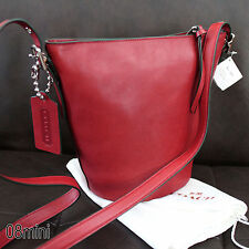 NWT COACH LEATHER MINI Duffle Currant Red CROSSBODY SWING BAG PURSE NEW 32281