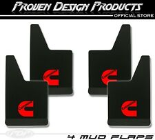 X 4 FULL SET Dodge Ram 2500, Truck Mud Flaps Red Cummins Diesel, RAM 4X4 RED