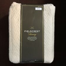 """FIELDCREST LUXURY KING MATELASSE TAILORED BEDSKIRT. OATMEAL COLOR. 15"""" DROP"""