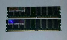 2 x OCZ PC3200 1GB 3-4-4 2.6v OCZ4001024V3 DDR Desktop Memory