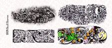 1/10 Scale Custom Tattoos for Action Figures: Skull Sleeves - Waterslide Decals