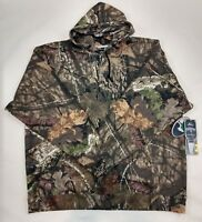 Mossy Oak Hoodie Pullover Mens Hunting Green Camo Fleece NEW